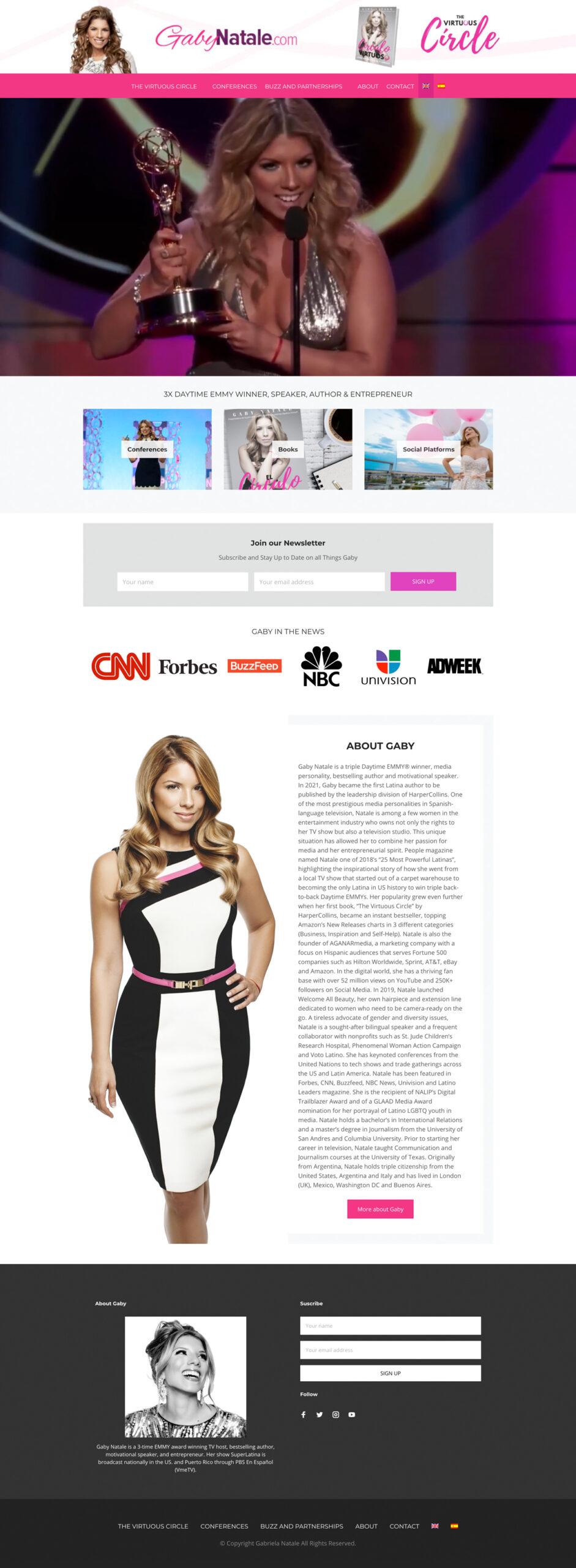 Gaby Natale Website